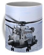 A Ch-53e Super Stallion Conducts Flight Coffee Mug