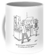 A Chef In The Kitchen Is Throwing Knives Coffee Mug