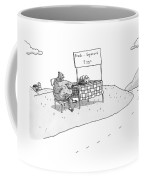 A Chicken Sits Next To A Roadside Stand Coffee Mug by Zachary Kanin