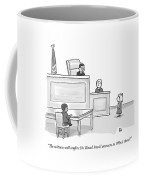 A Child Judge Says To A Child Witness In A Court Coffee Mug by Paul Noth