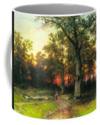 A Child Walks In A Forest Coffee Mug