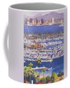A Clear Day In San Diego Coffee Mug by Mary Helmreich