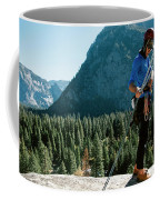 A Climber At The Top Of Pitch 3 On Swan Coffee Mug
