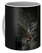A Climber On A Rock Face Coffee Mug