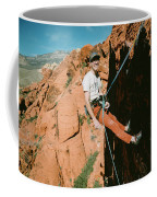 A Climber On Panty Wall In Red Rock Coffee Mug