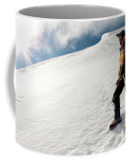 A Climber On The Glacier Of Cotopaxi Coffee Mug