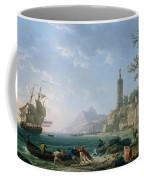 A Coastal Mediterranean Landscape Coffee Mug