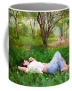 A Comfortable Patch Coffee Mug