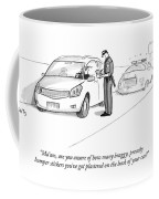 A Cop Pulls Over A Minivan Coffee Mug