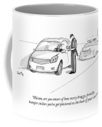 A Cop Pulls Over A Minivan Coffee Mug by Julia Suits