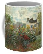 A Corner Of The Garden With Dahlias Coffee Mug