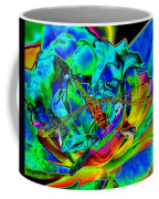 A Cosmic Dragonfly On A Psychedelic Rose Coffee Mug