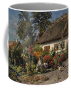 A Cottage Garden With Chickens Coffee Mug