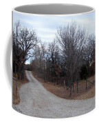 A Country Driveway Near The Brazos River Coffee Mug