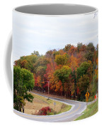 A Country Road In Autumn Coffee Mug