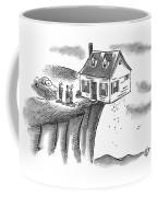 A Couple And A Real Estate Representative Stand Coffee Mug