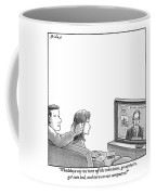 A Couple Are Sitting On A Couch Late At Night Coffee Mug