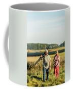 A Couple Bird Watching On A Salt Marsh Coffee Mug