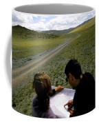 A Couple Hiking Across The Atlai Coffee Mug