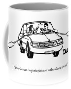 A Couple In A Car With Oars Out The Windows Coffee Mug