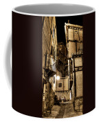 A Couple In A Little Restaurant In The Ancient City Of Albarracin Coffee Mug