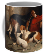 A Couple Of Foxhounds With A Terrier The Property Of Lord Henry Bentinck Coffee Mug