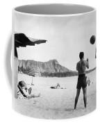 A Couple On Waikiki Beach Coffee Mug