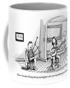 A Couple Sits In The Living Room Testing Who Coffee Mug