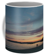 A Couple Walk Along The Shore Coffee Mug