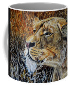 A Curious Lioness Coffee Mug