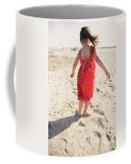 A Cute Little Hispanic Girl Wearing Coffee Mug
