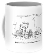 A Daughter Informs Her Mother Who Is Is Reading Coffee Mug by Barbara Smaller