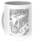 A Day Care Is Seen With Children Riding Coffee Mug