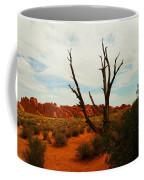 A Dead Tree Foreground A Maze Of Rocks Coffee Mug