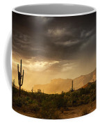 A Desert Monsoon Sunset  Coffee Mug