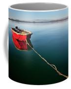 A Dinghy On A Calm Sea, Port Clinton Coffee Mug
