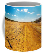 A Dirt Road In The Desert Coffee Mug