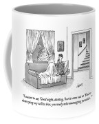 A Disgruntled Man Who Is Ready To Go To Sleep Coffee Mug