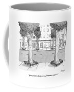 A Disgruntled Tree Looks At The Small Fence Coffee Mug