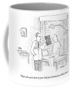 A Doctor Shows A Patient An X-ray Coffee Mug