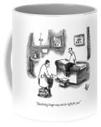 A Doctor Sitting On A Stool And Writing On A Pad Coffee Mug