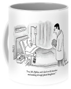A Doctor Speaks To A Patient In A Hospital Bed Coffee Mug
