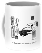 A Doctor Speaks To A Patient Whose Dimensions Coffee Mug