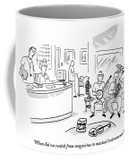 A Doctor Talks To A Receptionist At His Office Coffee Mug