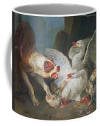 A Dog Attacking Geese, 1769 Oil On Canvas Coffee Mug