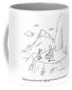 A Dog Speaks To A Guru On Top Of A Mountain Coffee Mug