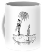 A Dominatrix Speaks To A Clown On A Small Desert Coffee Mug