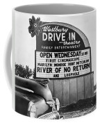 A Drive-in Theater Marquee Coffee Mug