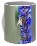 A European Honey Bee And It's Flowers Coffee Mug