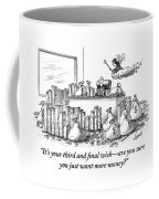 A Fairy Is Seen Talking To A Man Seated Coffee Mug
